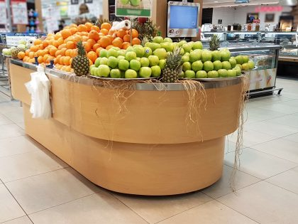 FRUIT AND VEGETABLE SECTIONS
