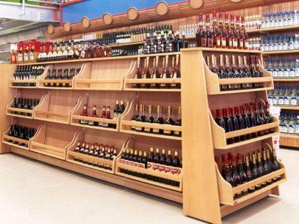 Стелажи за напитки, вино, алкохол