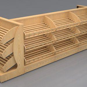 Дървени стелажи